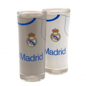 Sada 2 koktejlových skleniček Real Madrid FC